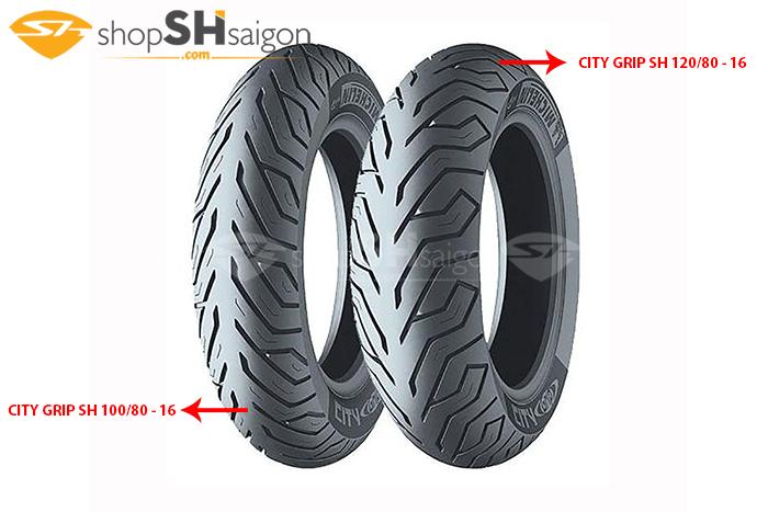 shopshsaigon.com michelin city crip 1 - Lốp Xe Sau Michelin City Grip Cho SH 120/80-16