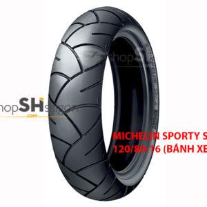 shopshsaigon.com michelin sport 2 300x300 - Lốp Xe Sau Michelin Pilot Sporty Cho SH 120/80-16