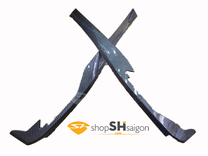 shopshsaigon.com op carbon sh 21 - Bộ Ốp Carbon Gắn Cho SHVN 2017-2018