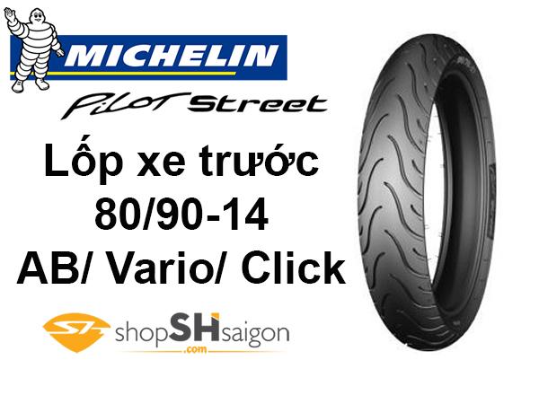shopshsaigon.com lop xe truoc ab michelin pilot street 1 - Lốp Xe Trước Michelin Pilot Street Cho AB-Vario-Click 80/90-14